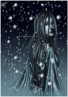 Group Art Contest: Yuki-onna for Canitiem by barn-swallow