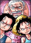 ATC Garp, Ace, and Luffy by CoralSnake