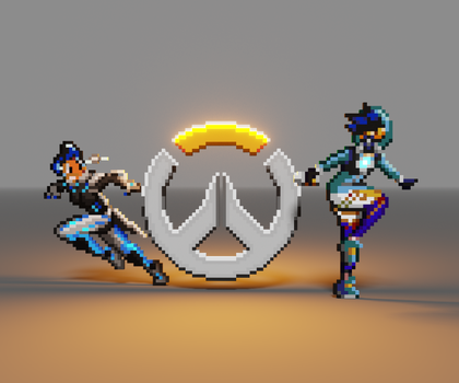 Happy Overwatch Anniversary! by SquirrelKidd