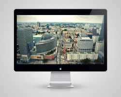 Tilt Shift City Wallpaper by drumzrtight