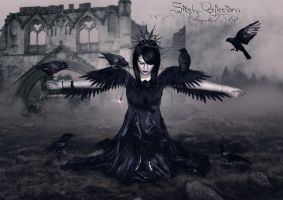 Queen of Ravens... by Steel-Reflections