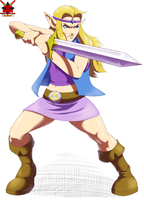 Commission: Zelda (Y'know. The OTHER Zelda.) by Pltnm06Ghost