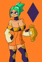 Skullgirls: Hatless Cerebella by Brian12
