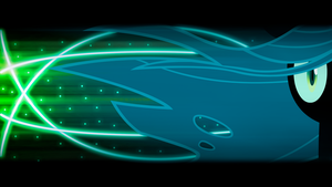 Queen Chrysalis 'Lights and Neons' Wallpaper by BlueDragonHans