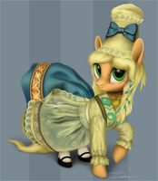Applejack's old dress by Dirlcutto
