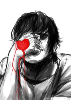 crying heart by K-KELI