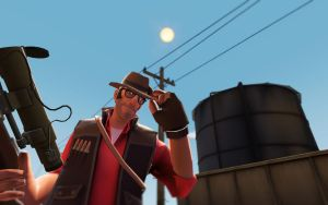 Team Fortress 2 Backgrounds - Sniper by AmberReaper