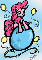 Pinkie's Balloon by DawnAllies