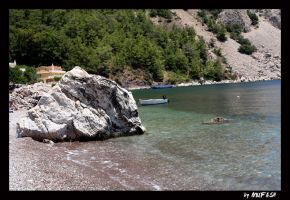 stones and boat_1 by mufash