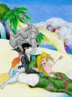 Link and Midna by Tyrranux