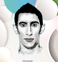 Di Maria Vector by EmreDemirVisualArts