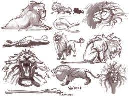 White sketches by tigon