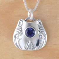 Spoon Pendant with Iolite by metalsmitten