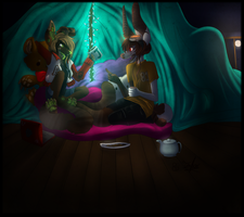 Collab: Fortress of Memories final piece! by B33B