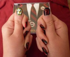 Glee Warblers nail art by hime-gleek-chan