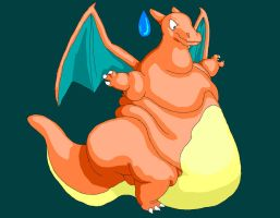 Fattened Charizard by PurpleTopHatter