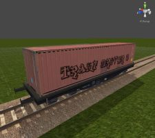 Train Driver 2 Models - Freight Container 01 by Jakhajay