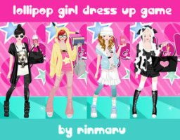 Lollipop girl dress up game by Rinmaru