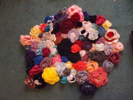 Crochet Rose Rug (in the works) by lovechairmanmeow