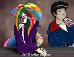 Arthur and HER in COLOR by Aardcore