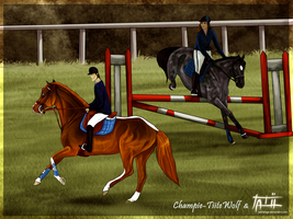 .: Double Training - Collab :. by ChampieB