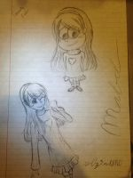 Mabel from Gravity Falls (drawn all from memory) by r0z3nkero