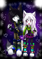 Love...Chibis*:::Raku and Lilith:::*Chibis...lovE by gisselle50