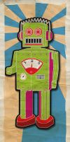 Retro Robot by Pirlipat