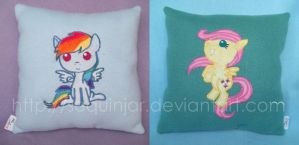 My little pony plush pillows by sequinjar