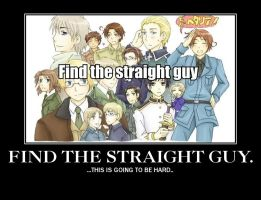 Find the straight guy.. by Thekirbypikmin