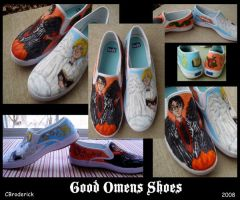 Good Omens Shoes by Fwizard