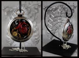 Human Heart Pocket Watch by NeverlandJewelry