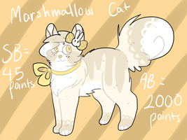 Marshmallow Cat Auction - CLOSED by catpaths