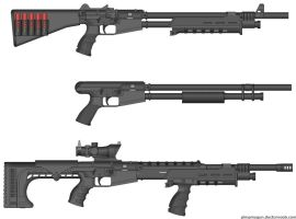 pump action shotguns by TooawesomeANKER