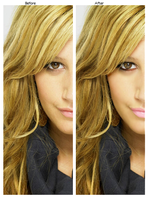 Ashley Tisdale Retouch by aruinedmonday
