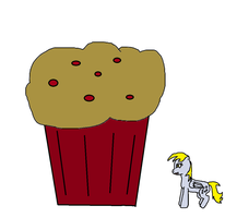 Derpy and a big muffin by Im-Albert-Wesker