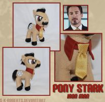 Pony Stark Plush by s-k-roberts