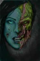 Zombie chick portrait v2 by Jeris82