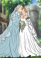 Elsanna wedding drawing 16 by Arendellecitizen