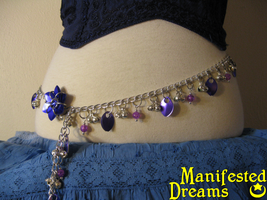Purple Scales Chain Belt by ManifestedDreams