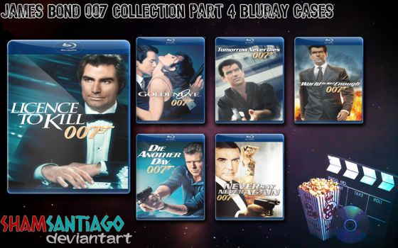 James Bond 007 Collection Part 4 Bluray Cases by ShamSantiago