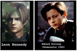 Leon Kennedy + Edward Furlong by lsk1977