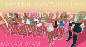 One day Until Asami's Birthday! by chatterHEAD