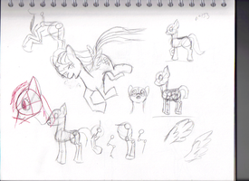 Pony sketchin' by Luckyeater