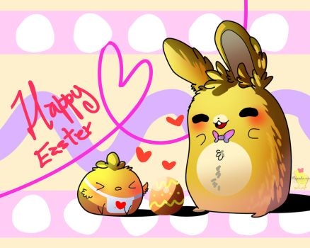 Happy easter day! [ Springbonnica edition ] by Hiyoko-little-chick