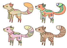 Fox Adoptables! (2 left!) by xyllem
