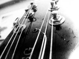 My Guitar: Headstock by FighterOfFoos