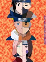 Team Kakashi + Team Minato by deeMrofl