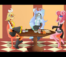 Gift: Girls night out by Shadow-pikachu7