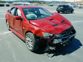 OUCH one less Mitsu Evo MR by Partywave